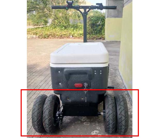 Riding Cooler Scooter Model CZ-HB Sport X Dually Wheel Option